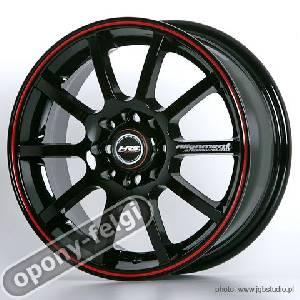 Felgi Aluminiowe Hrs 15 H 286 4x100 4x1143 Black Red Line
